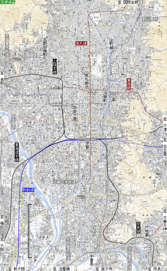 図 京都 市電 路線